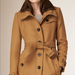 Burberry classic wool cashmere trench coat